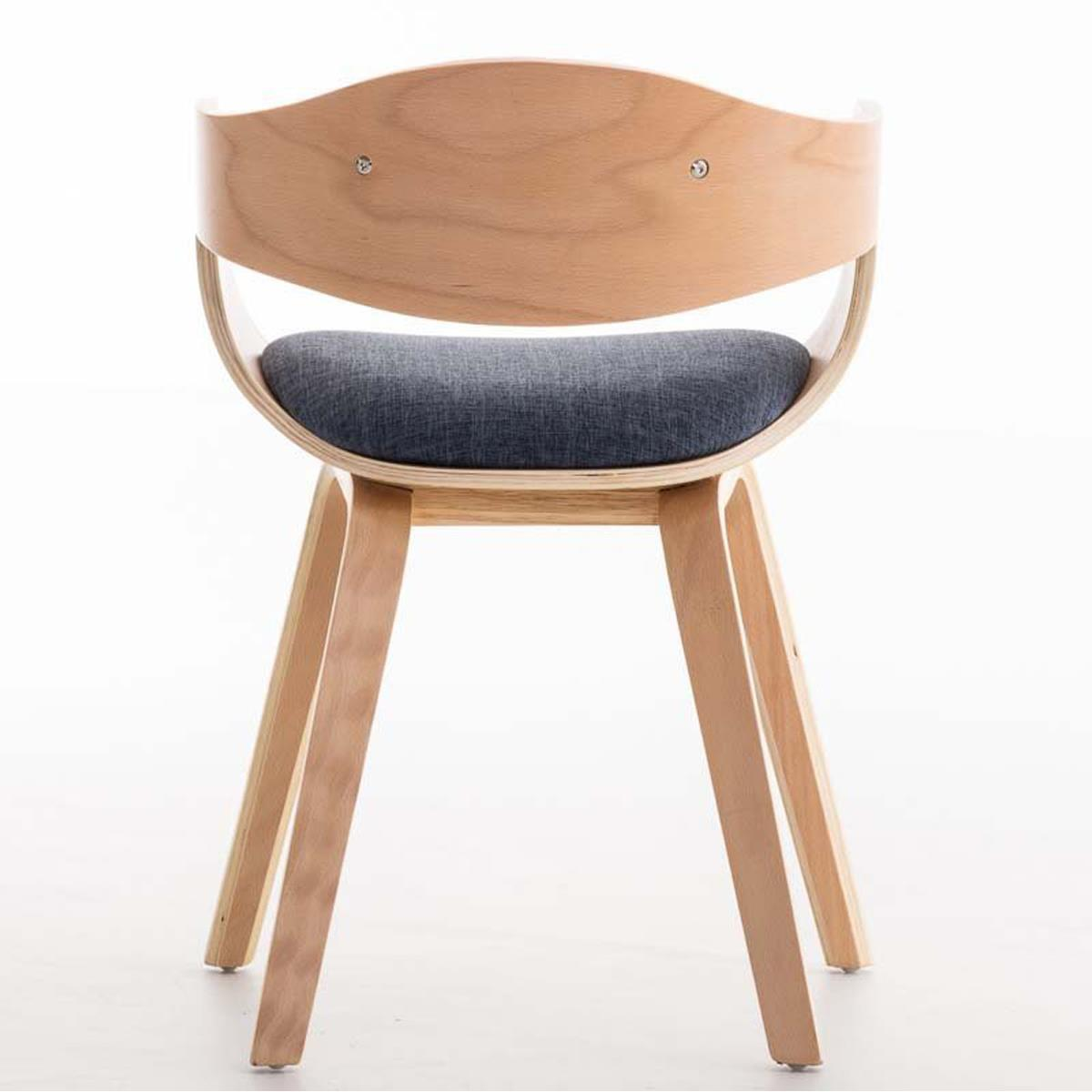 Silla de confidente butan tela color haya y azul silla - Telas para sillas ...