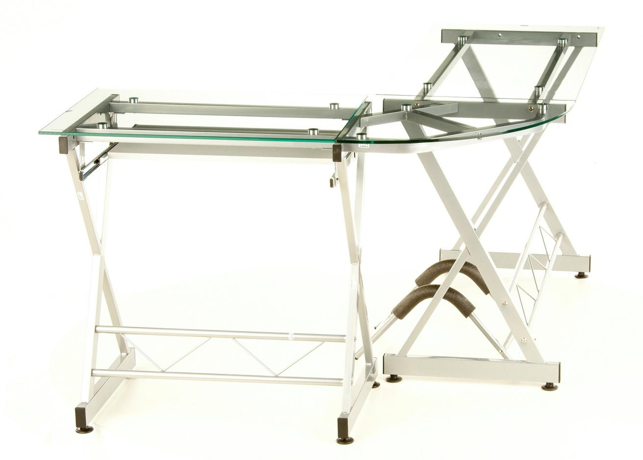 Mesa de ordenador en cristal expert soporte pc 75x160 cm - Mesa ordenador cristal ...