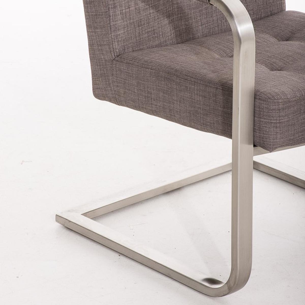 Silla de confidente morgal tela de exclusivo y moderno dise o con estructura en acero - Color gris acero ...