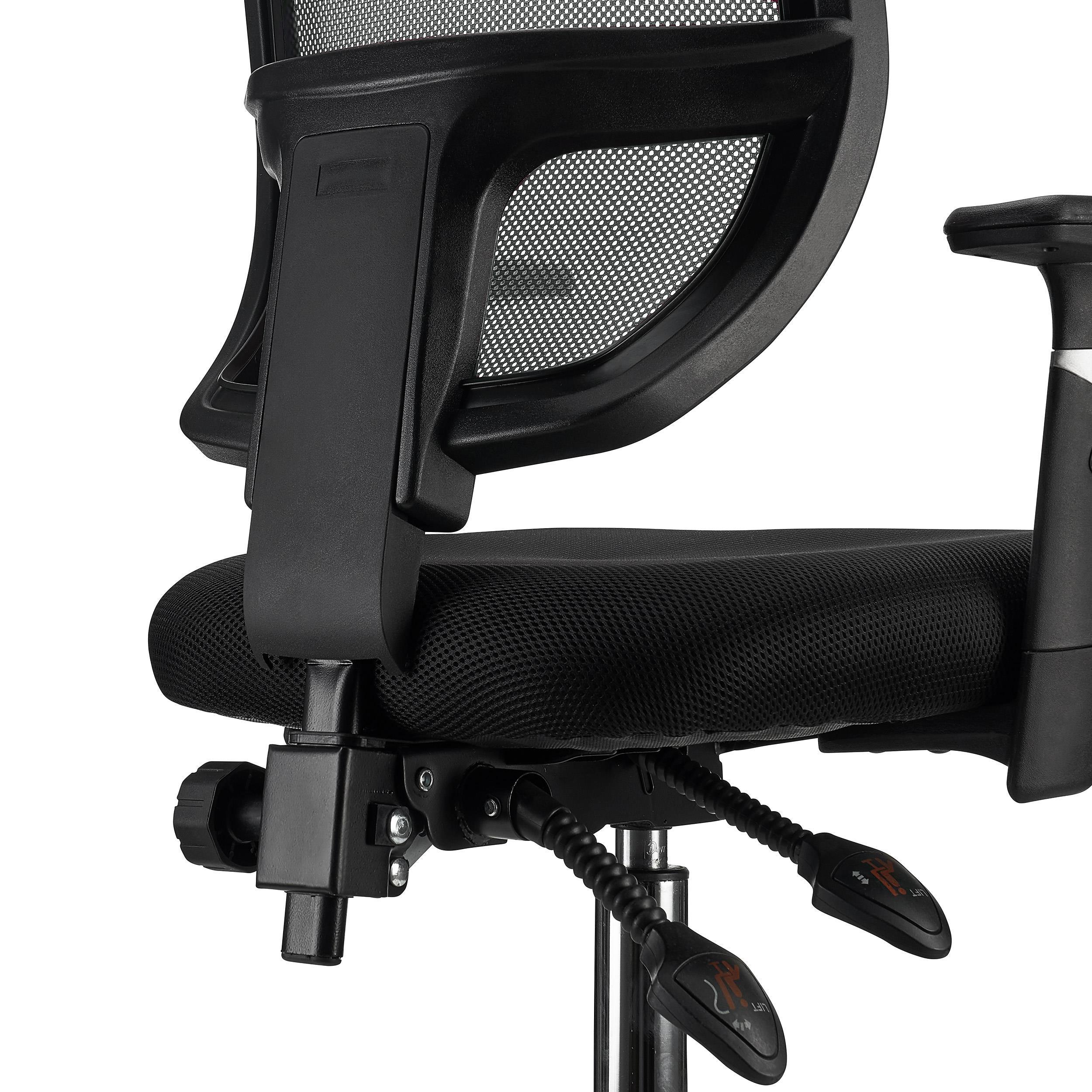 Silla de oficina dinamic robusta y ajustable gris for Sillas de oficina comodas