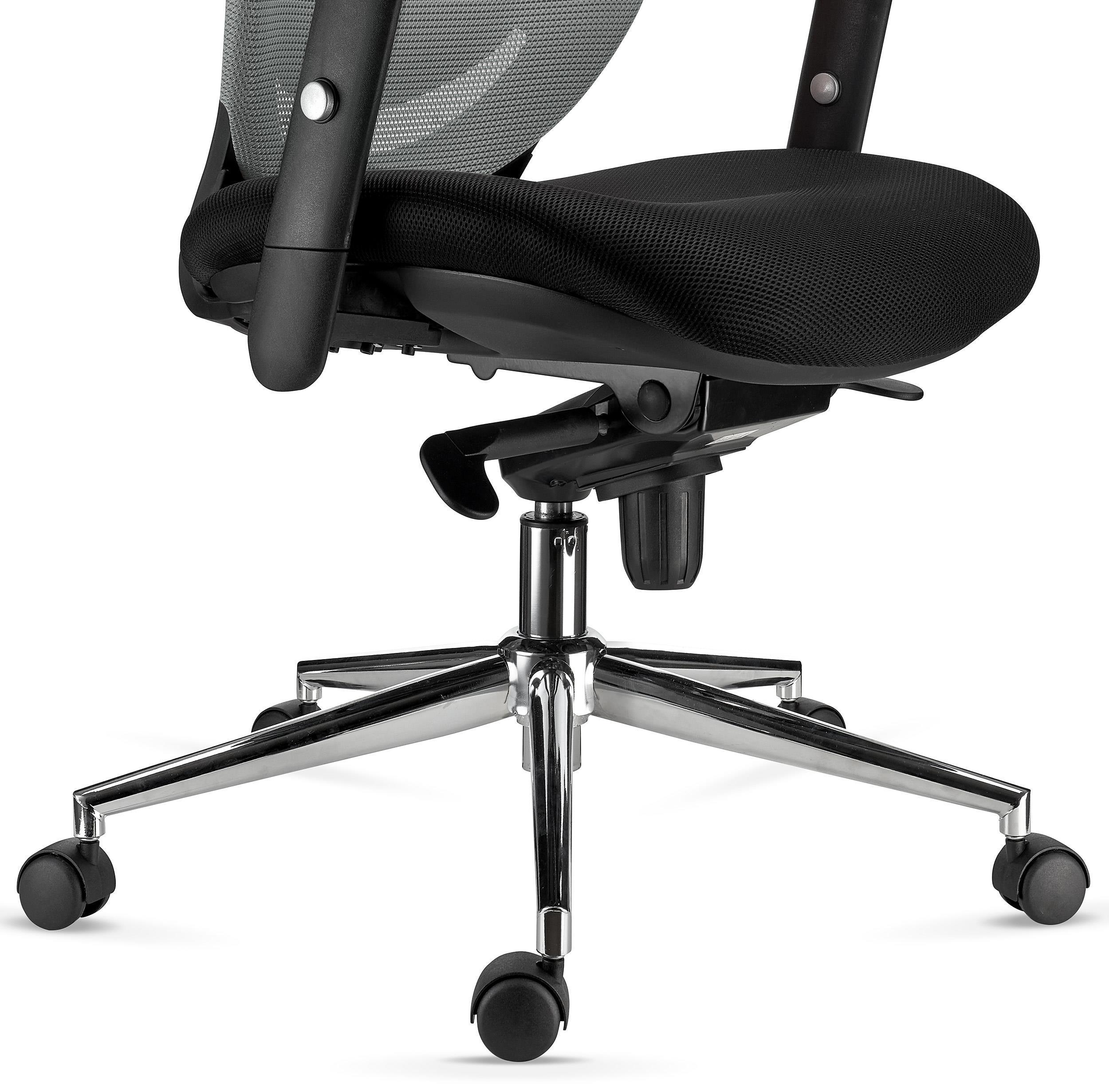 Silla de oficina ergonomica lambo malla traspirable y for Soporte lumbar silla oficina