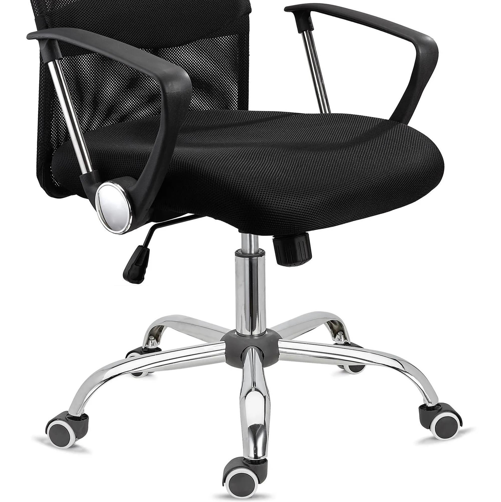 Sillas de oficina aspen malla transpirable en negro for Sillas para oficina precios