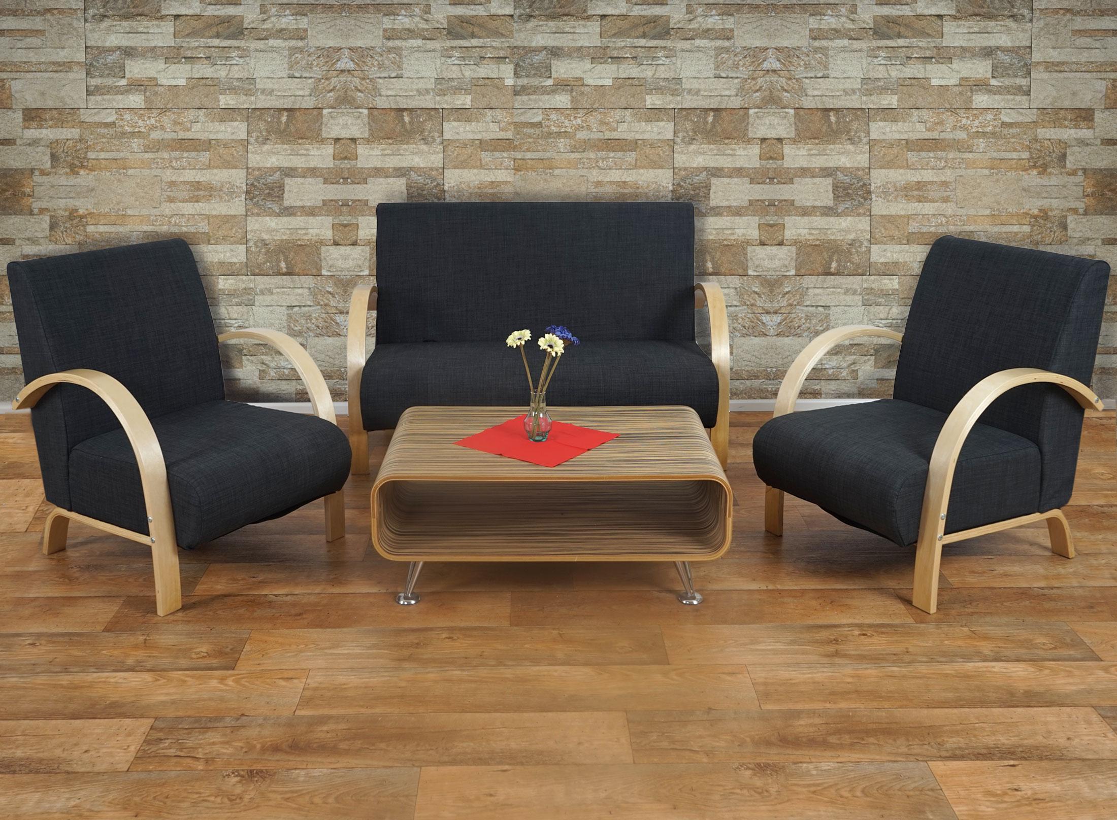 Sofá de 2 plazas INDUS, gran acolchado, tela marrón oscuro - Sofá de ...