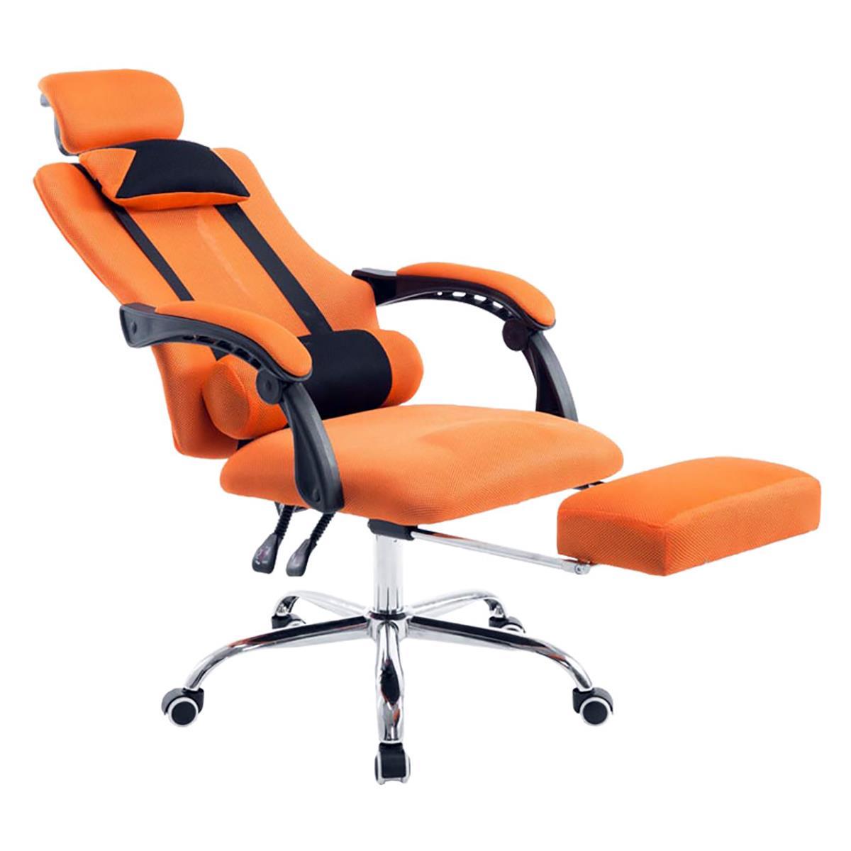 De Gaming AntaresReclinableReposapiés Color Transpirable Naranja ExtensibleEn Silla Malla Oficina rBeCodx