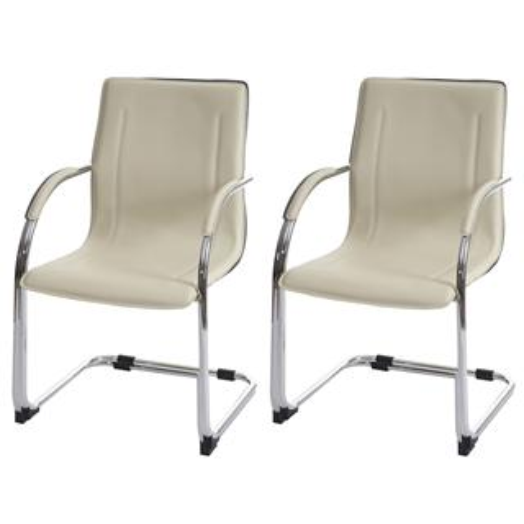 3a3603d17 Lote de 2 sillas de confidente ZEUS, estructura metálica y tapizadas en  piel sintética de