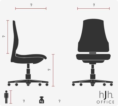 Sillón de oficina PALERMO, Muy cómodo, Adaptado uso 8h, Gran diseño, en Negro