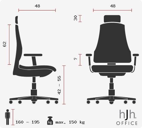 Lujo absoluto, silla Topstar STABLY 40, Toda clase de extras, Regulable, Body Balance, Piel Real, Negro