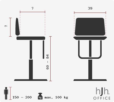 Lote 2 taburetes de Piel Blanca RONDO, diseño único y alta calidad a el mejor precio, En Blanco