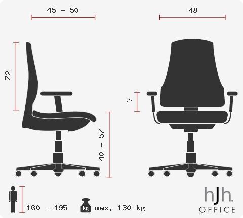 Sillón ejecutivo modelo ROVO XL, sillón de presidencia anatómico, totalmente regulable, piel real, color Negro