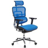 Silla de Oficina ERGOMAX, Toda clase de Extras, totalmente Regulable, color Azul