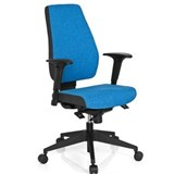 Silla Oficina Ergonómica DETROIT, Homologada para 8 h, 100% Regulable, Color Azul