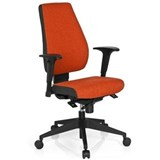 Silla Oficina Ergonómica DETROIT, Homologada para 8 h, 100% Regulable, Color Rojo