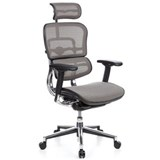 Silla de Oficina ERGOMAX, Toda clase de Extras, totalmente Regulable, color Gris