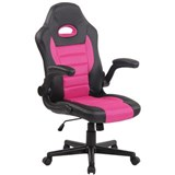 Silla de Ordenador Gaming LOTUS, reposabrazos abatibles, en piel y malla transpirable color rosa