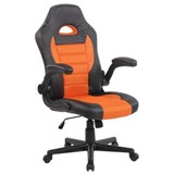 Silla de Ordenador Gaming LOTUS, reposabrazos abatibles, en piel y malla transpirable color naranja