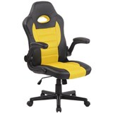 Silla de Ordenador Gaming LOTUS, reposabrazos abatibles, en piel y malla transpirable color amarillo