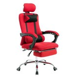 Silla de Oficina / Gaming ANTARES, Reclinable, Reposapiés Extensible, en Malla Transpirable color Rojo