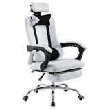 Silla de Oficina / Gaming ANTARES, Reclinable, Reposapiés Extensible, en Malla Transpirable color Blanco