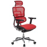 Silla de Oficina ERGOMAX, toda clase de extras, totalmente regulable, color Rojo
