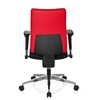 Silla Ergonómica PROFI, 100% Ajustable, Adaptada uso 8h, Base en Acero, color Rojo