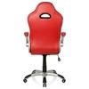 Silla de Oficina Deportiva MONTECARLO, Diseño único deportivo, en Poli Piel color Rojo