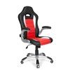 Silla de Oficina MONTECARLO, Diseño deportivo, Homologada uso 8h, Negro y Rojo