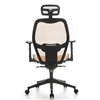 Silla de oficina / silla ejecutiva AIRPORT de malla, totalmente ajustable, color Naranja
