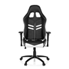 Silla Gaming TARGA, Respaldo Reclinable, Cojines Incluidos, Base de Metal, En Negro y Blanco