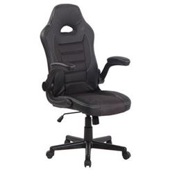 Silla de Ordenador Gaming LOTUS, reposabrazos abatibles, en piel y malla transpirable color gris